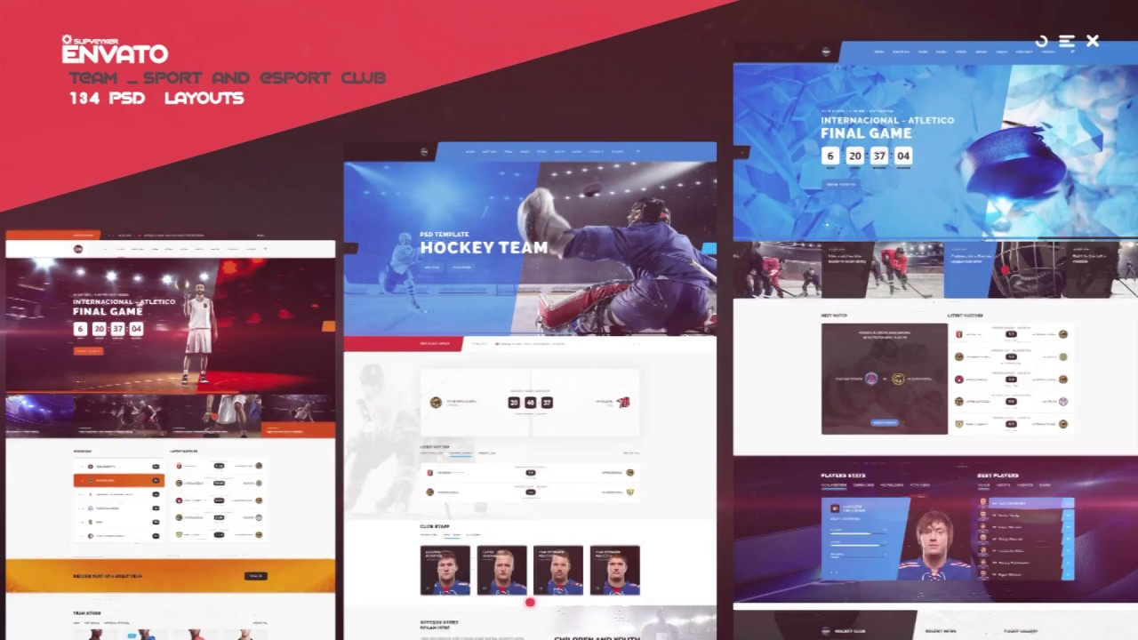 Website Presentation | Sport and eSport | After Effects project ...