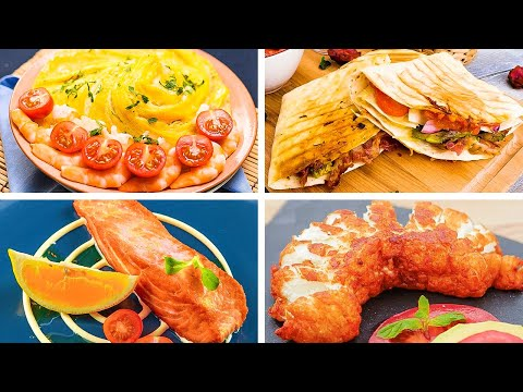Tasty Recipes With Chicken, Cheese, And Other Goodies For Foodies || 5-Minute Recipes Live Stream!