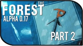 The Forest 0.17 Gameplay Part 2 – Max Upgraded Axe + Log Cabin Work!