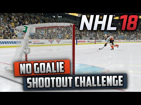 Can I Win a Shootout Without a Goalie? (NHL 18 Challenge)