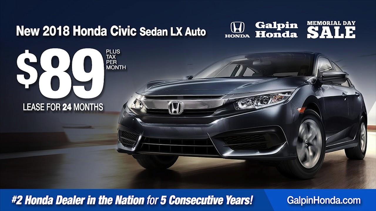 Galpin Honda Memorial Day Sale