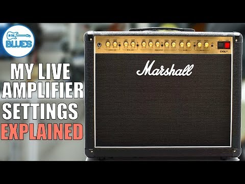 How I Set My Marshall DSL40CR Guitar Amplifier for Live Use