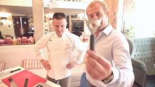 Рецепт №4: Салат из семги с дыней в гранатовом соке