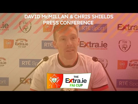 PRESS CONFERENCE | Dundalk duo David McMillan & Chris Shields after the Extra.ie FAI Cup Final win