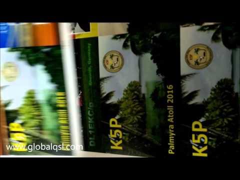 GlobalQSL prints K5P Palmyra Atoll 2016