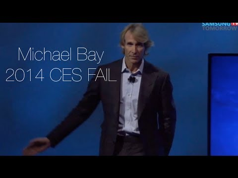 Michael Bay Chokes at CES Stage 2014 (HD)