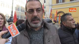 Vox manifestazione ex LSU scuola a Montecitorio