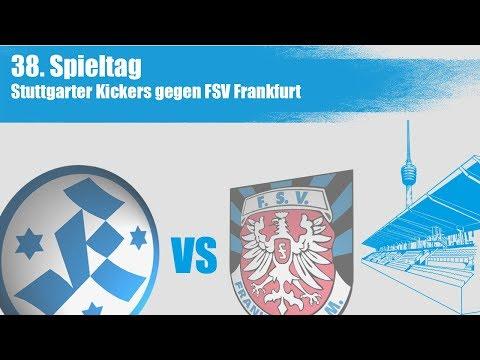 38. Spieltag, Stuttgarter Kickers vs FSV Frankfurt - Spielbericht