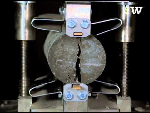 Brazilian Test - Tensile Failure of Concrete in Slow Motion