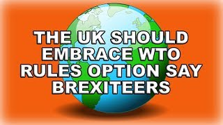 🌍 Brexit - May Should Embrace the WTO Option 🌍