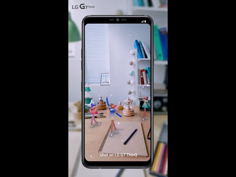 LG G7 ThinQ: Let's find AR stickers (Music box)