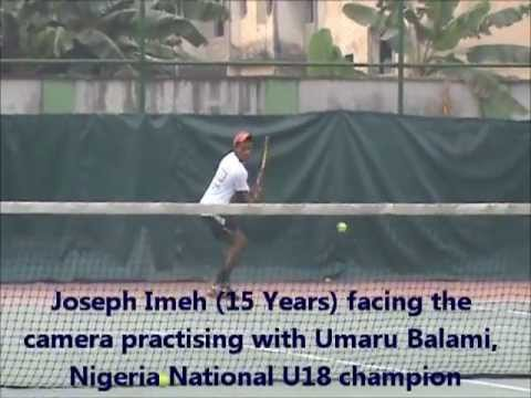 JOSEPH IMEH, NIGERIAN  TENNIS WIZ KID, A PROMISING TALENT !
