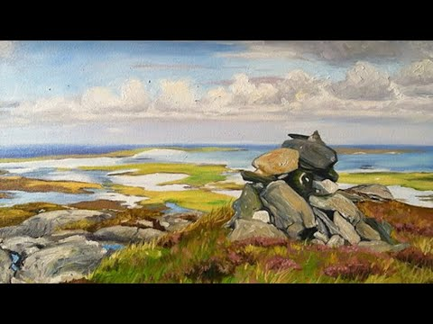 Takeyce Walter: Progression of a Commissioned Oil Painting Maari, North Uist Scotland.