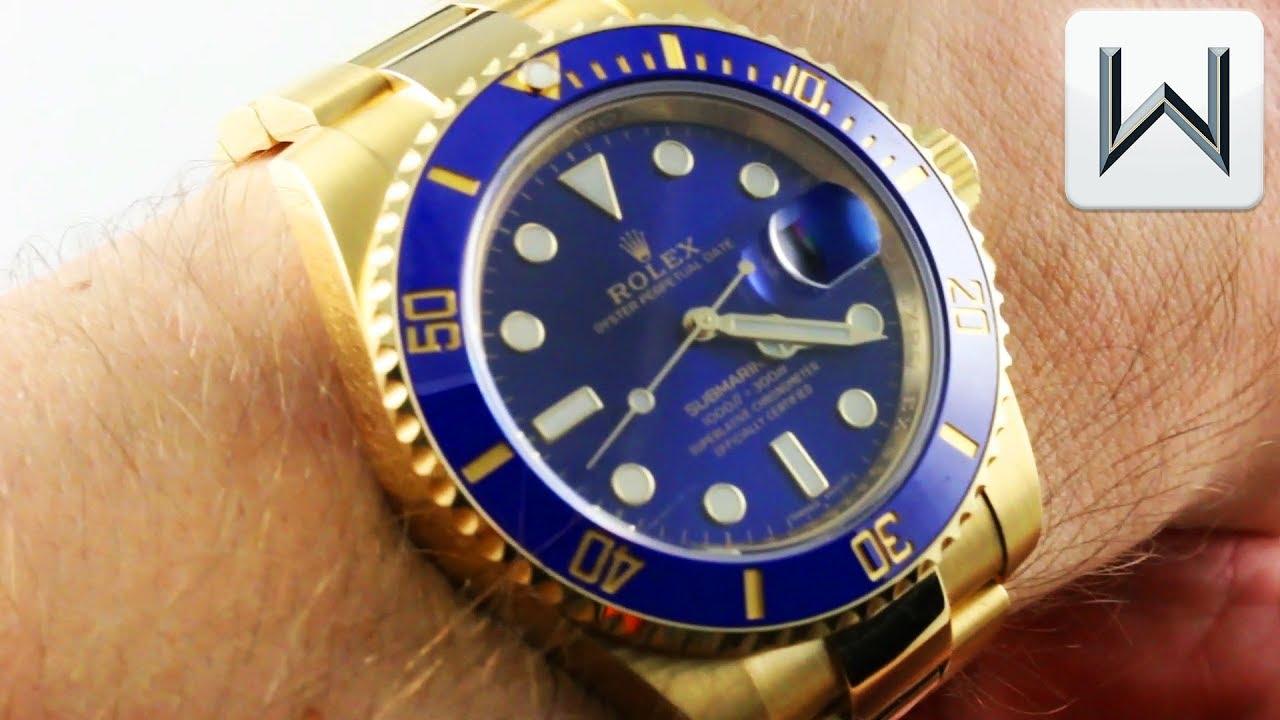 save off 2c4c0 fe51d Rolex Submariner (BLUE SUNBURST DIAL) 116618LB Luxury Watch Review