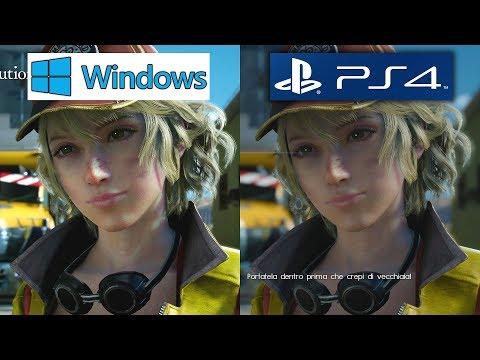 [4K UHD] Final Fantasy XV – PC vs. PS4 Graphics Comparison