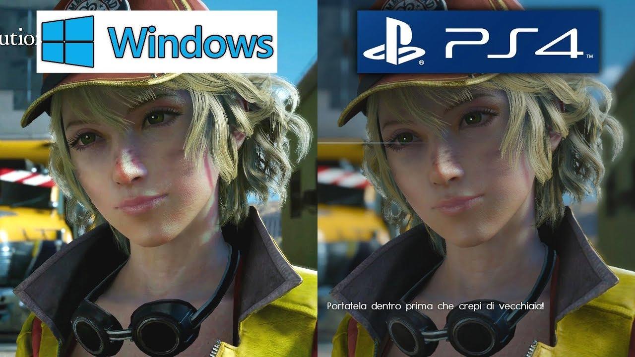4k uhd  final fantasy xv  u2013 pc vs  ps4 graphics comparison