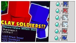 50vs50vs50 Minecraft CLAY SOLDIERS MODDED BATTLEDOME CHALLENGE - Minecraft Mod | JeromeASF