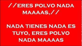 ERES POLVO Y NADA MAS THOMAS HERNANDEZ pista y letra 041913