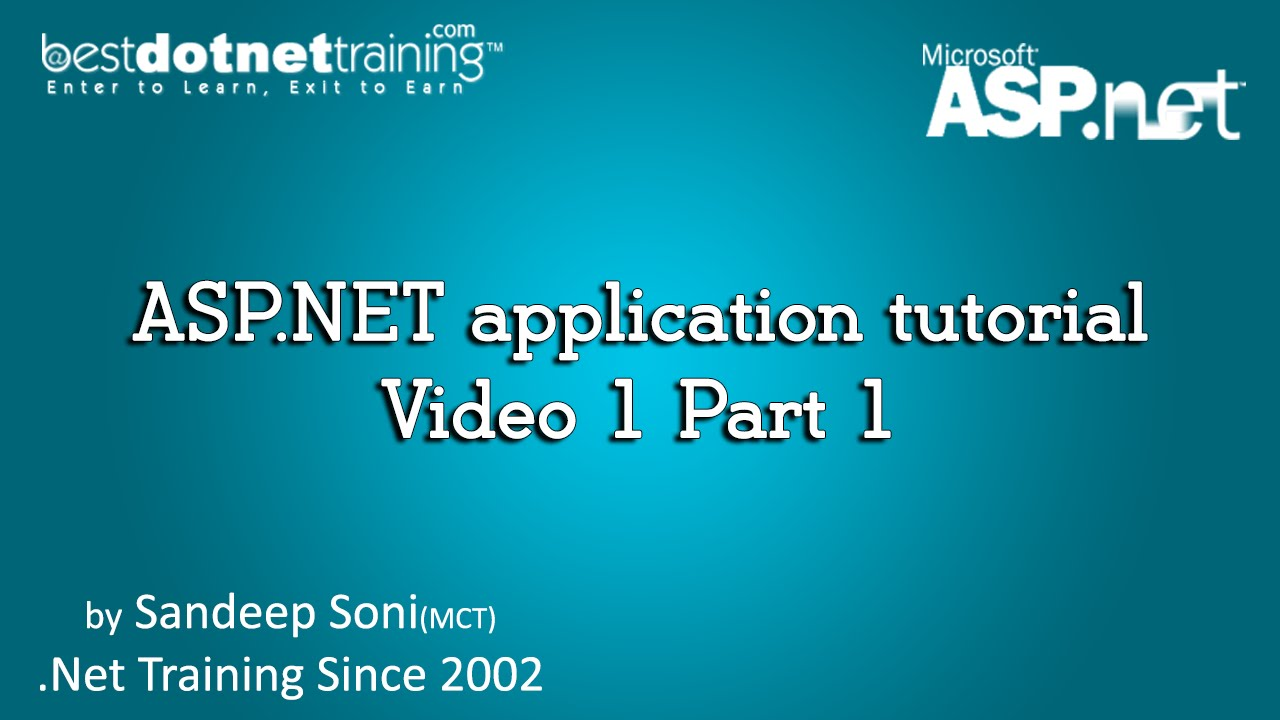 Asp. Net tutorial for beginners youtube.