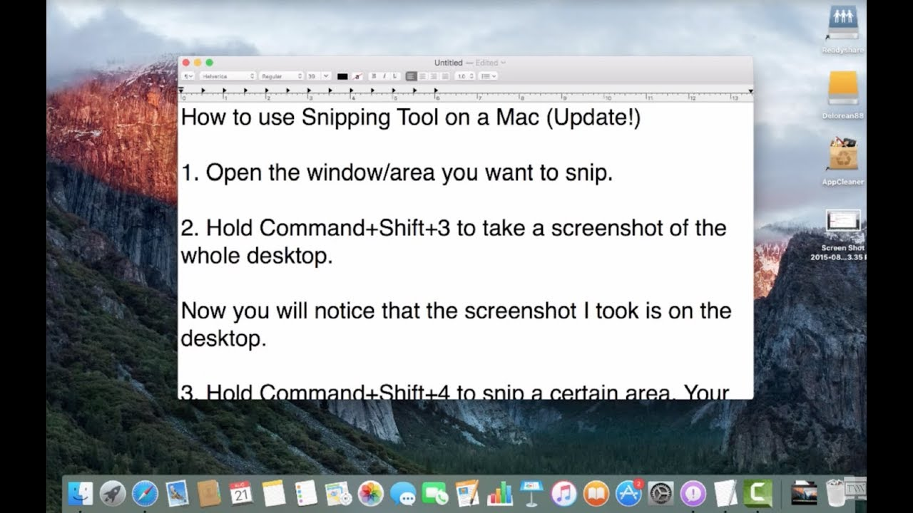 How To Use Snipping Tool On Mac! (Update)