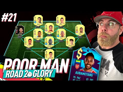 352 FUT CHAMPIONS SQUAD! POTM AUBAMEYANG IS A SCAM!!! - POOR MAN RTG #21 - FIFA 20 Ultimate Team