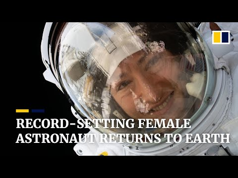 Female Nasa astronaut back on Earth after record-breaking space mission