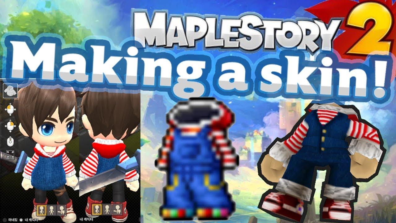 Maplestory 2 - Making a Skin! UGC (Denim Overalls)
