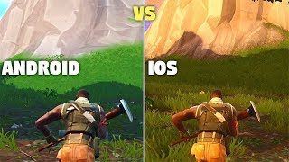 Fortnite Android vs iOS -  Fortnite on iPhone X vs Galaxy Note 9