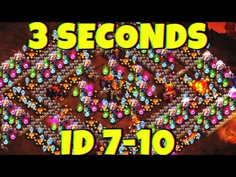 3 SECONDS 😱| BEATING ALL ID 7/10 HEROES 💪 | WHATTT!! | CASTLE CLASH