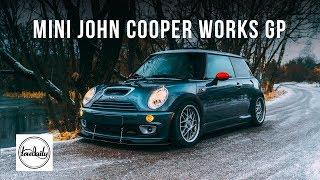 Burnout Mini John Cooper Works Зимой на полуслике GP. JCW GP. Lowdaily 4K.