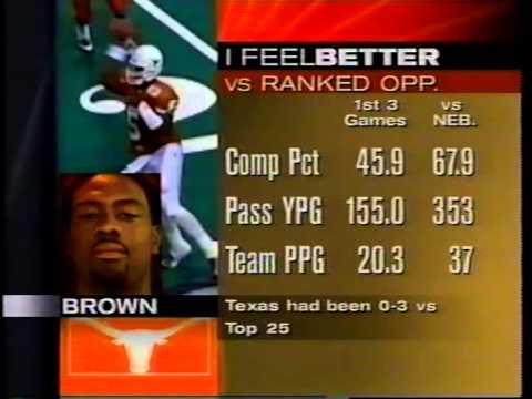 Texas v Nebraska 1996 Highlights