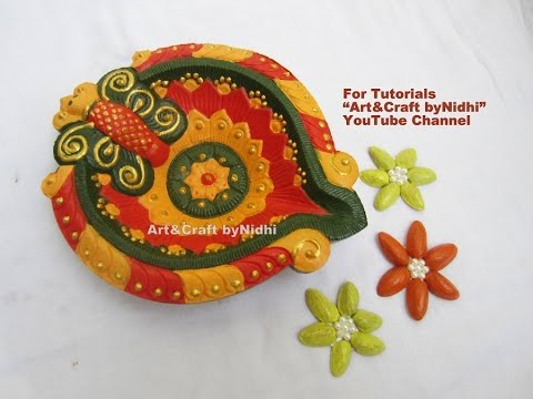 Best and beautiful diya decoration painting tips tutorial for Diya decoration youtube