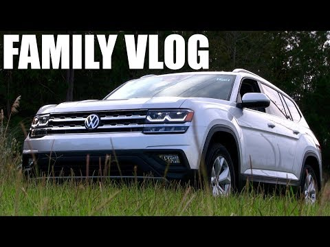 👨‍👩‍👧‍👦  New 2018 VW ATLAS SE - Family Review & Night Ride |