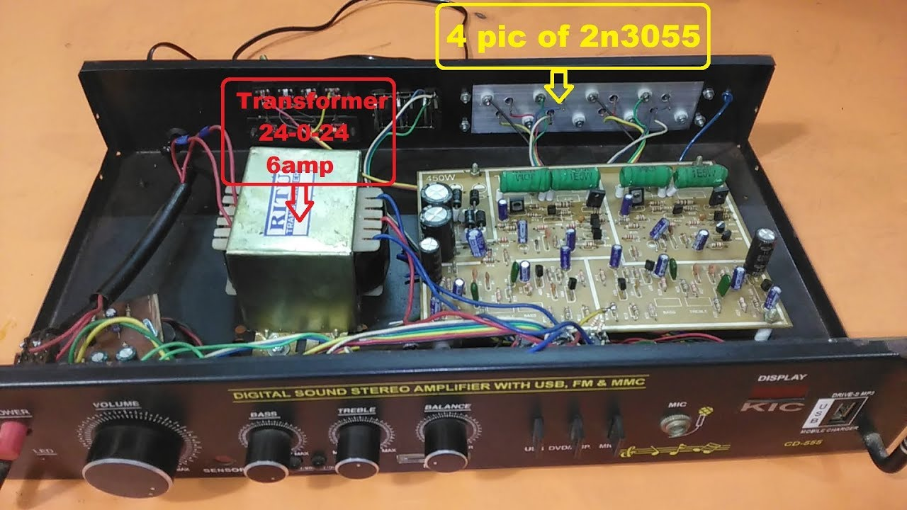 2n3055 Diy Audio Amplifier 2x200w Youtube Stereo Amp 2 Channel Subwoofer Circuit Board Howtomakeamplifier Amplifiercircuit 2sc5200