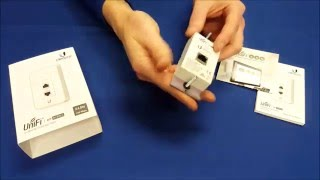 ubiquiti networks unifi in wall wi fi access point uap iw unboxing by intellibeam com