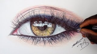 How To Draw A Realistic Eye | Using Ballpoint Pens