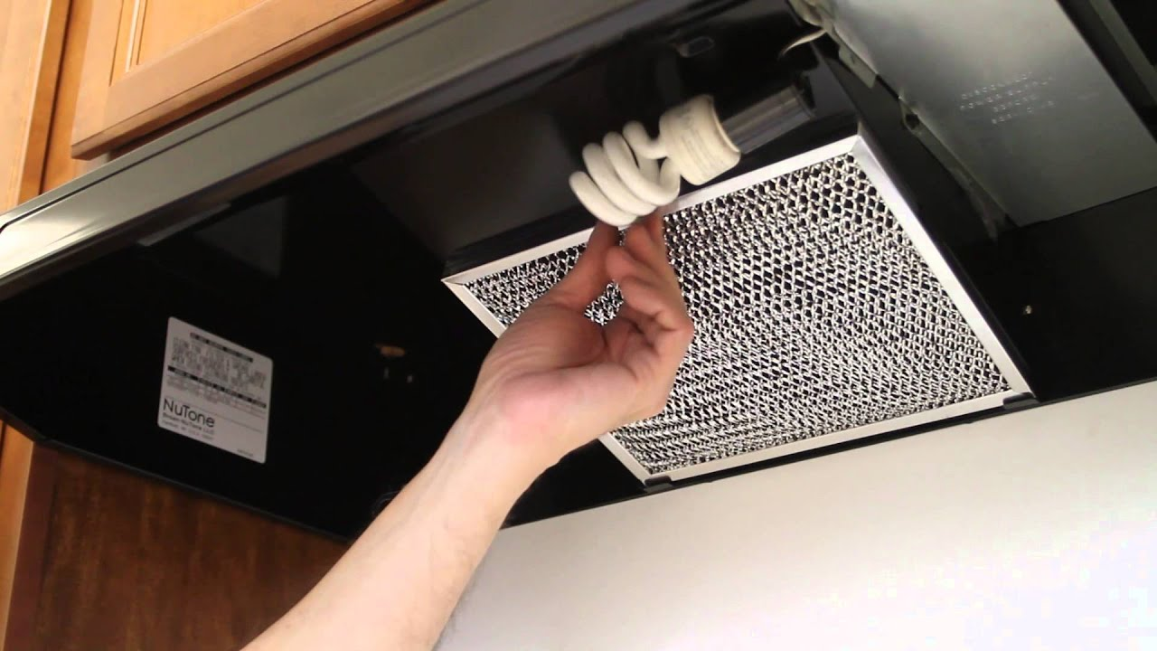 How To Replace A Kitchen Vent Hood Light Bulb And Filter Youtube