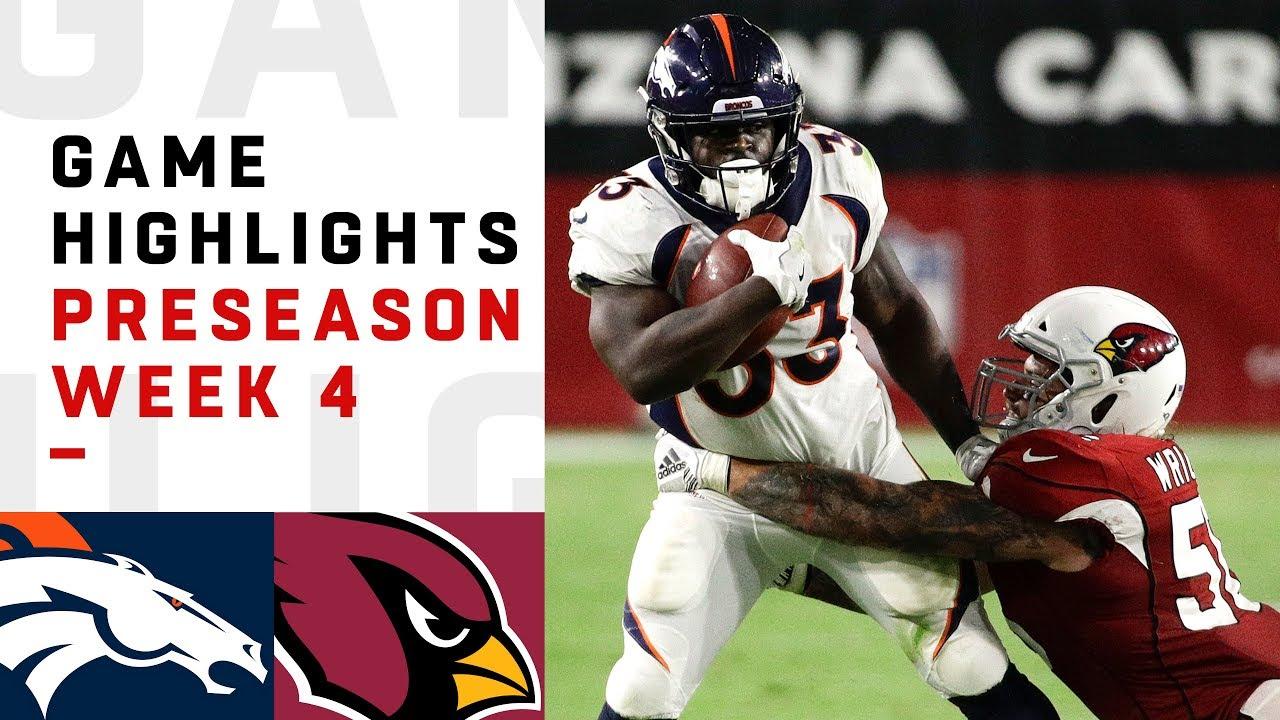 Broncos Vs Cardinals Highlights Nfl 2018 Preseason Week 4 Youtube