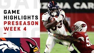 Broncos vs. Cardinals Highlights   NFL 2018 Preseason Week 4