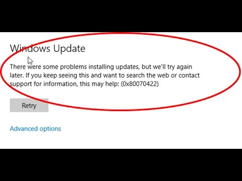 how to fix windows update error 0x80070422 in windows 10