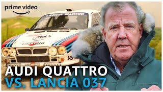 Clarkson's Favourite Rally Battle: 1983 Audi Quattro VS. Lancia 037 | Amazon Prime Video NL