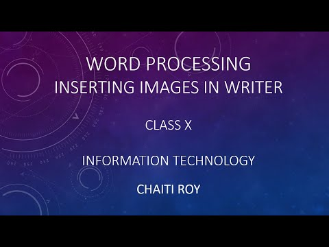 Inserting Images In Open Office Writer