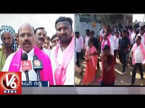 TRS MLA Manchireddy Kishan Reddy Election Campaign In Ibrahimpatnam Constituency | Hyderabad | V6