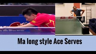 how to serve aces in table tennis long serve practice ma long style with crazy siva part