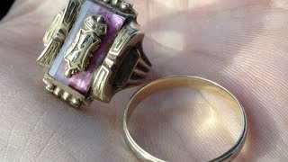 How to find gold rings with metal detector