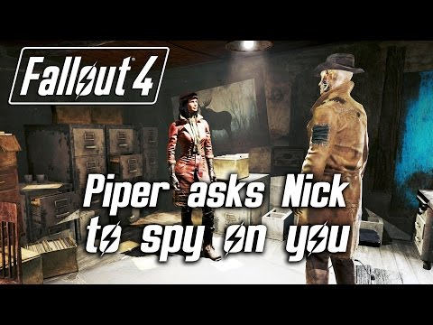 Fallout 4 - Jealous Piper asks Nick to spy on you Mp3