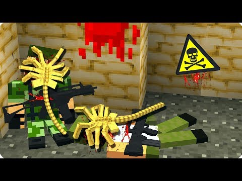 😖Самый противный монстр [ЧАСТЬ 4] Чужие в майнкрафт! - (Minecraft - Сериал)