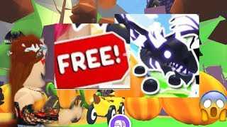 How to get a FREE shadow dragon pet in ADOPT ME // HALLOWEEN UPDATE