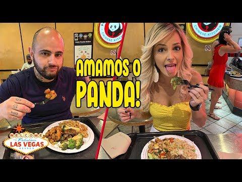 PROVAMOS O FASTFOOD QUERIDINHO DOS TURISTAS: O PANDA! | Provando Las Vegas