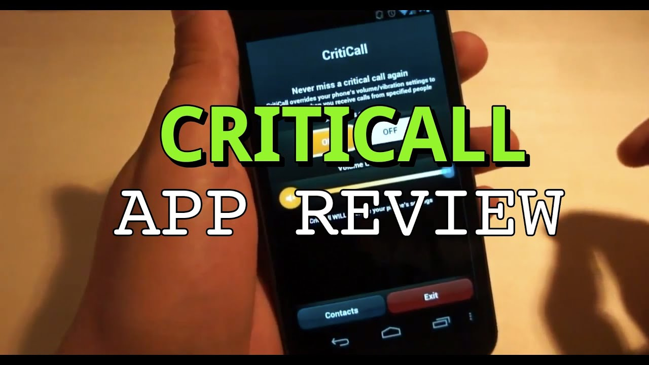 CritiCall App for Android Review
